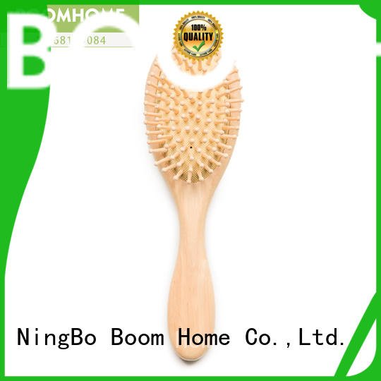 Boom Home private wooden hair brush factory for travel