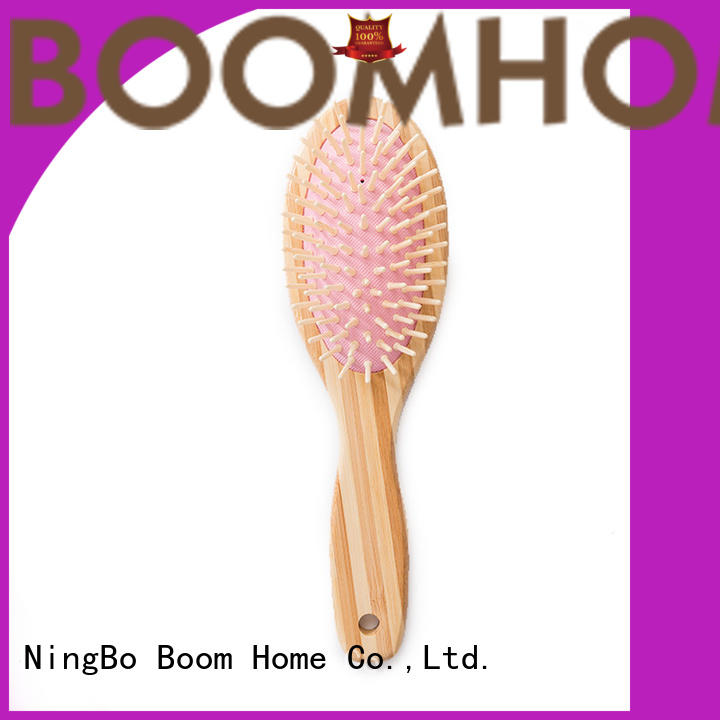 Eco-friendly Bamboo Wooden Hair Brush And Comb For Dry Hair