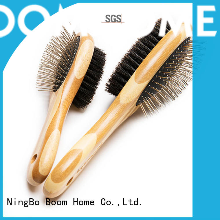 Double Sided Bamboo Pet Hair Remover Brush Boar & Pins Brush