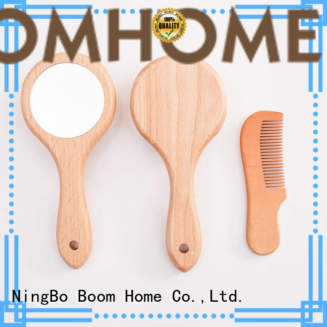 Boom Home brush baby hair brush and comb set manufacturer for kids