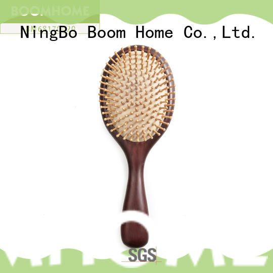 round wooden paddle hair brush personalized factory for hotel
