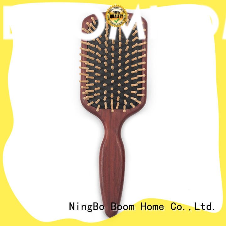 anti-static wooden paddle hair brush massage with good price for home