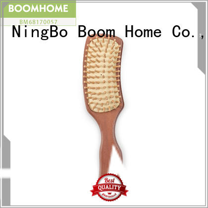 Boom Home pocket wooden paddle hair brush factory for hotel