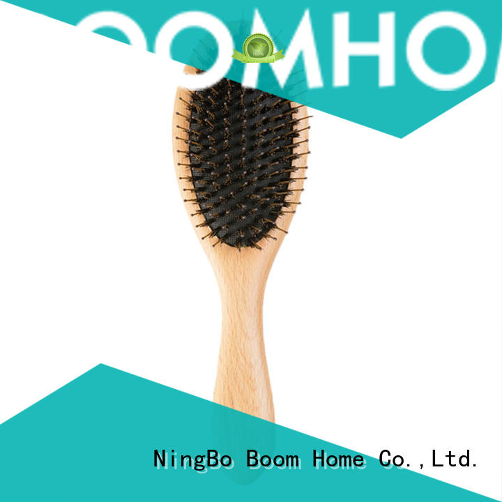 Boom Home bamboo thick bristle hair brush with good price for hair salon