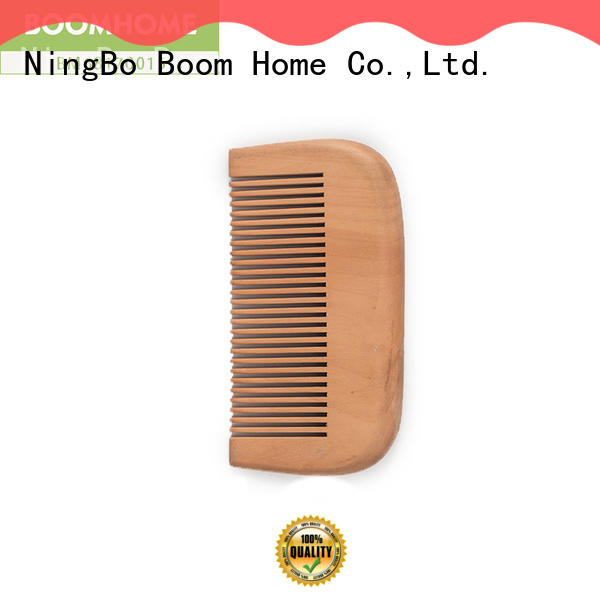 labels wooden paddle hair brush customized for shop