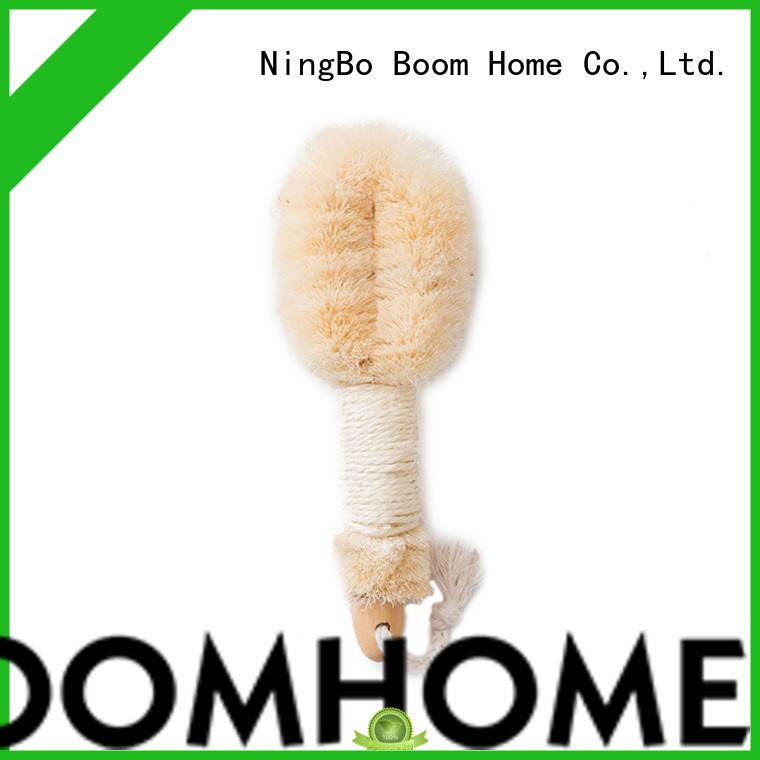 Boom Home bamboo body cleansing brush wholesale for shower