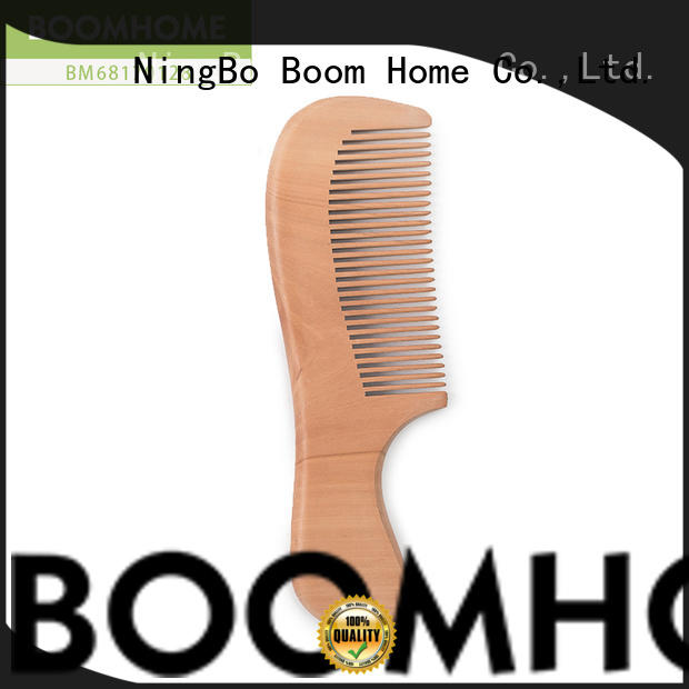 Boom Home natural wooden hair brush inquire now for travel