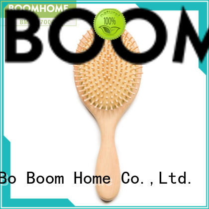 Boom Home round wooden paddle brush factory for home