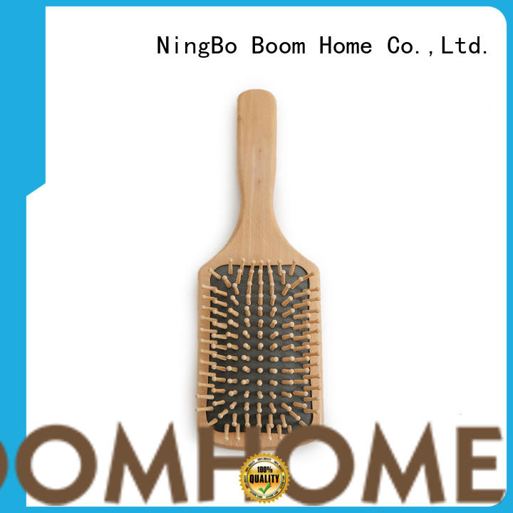 Boom Home nylon wooden hair comb with good price for shop