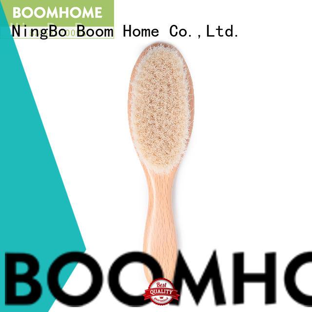 Boom Home wooden toddler hair brush set customized for trottie