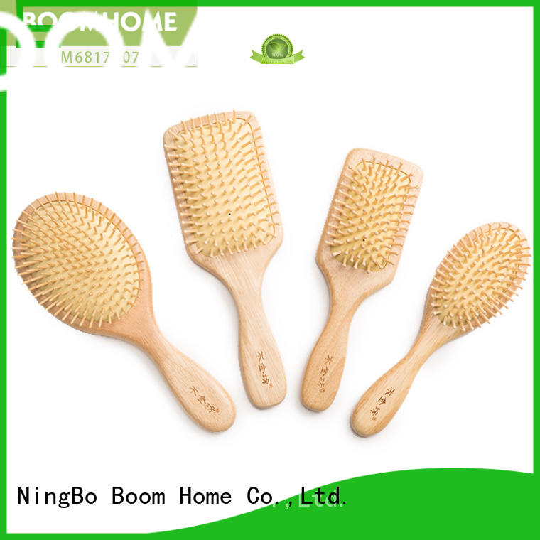 anti-static wooden paddle hair brush needle factory for home