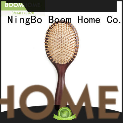 anti-static wooden comb label design for home