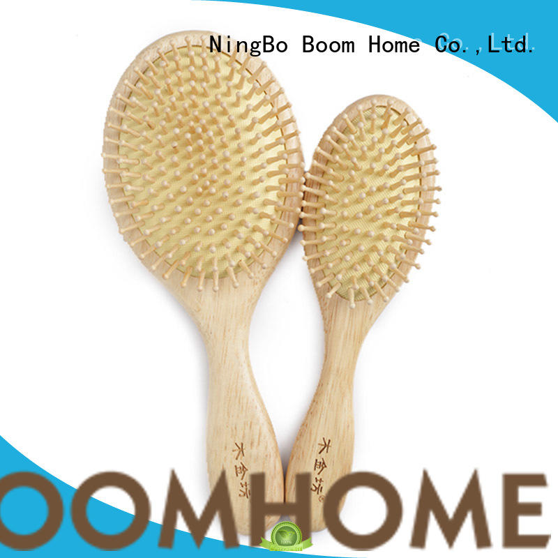 eco-friendly wooden paddle hair brush massage factory for shop