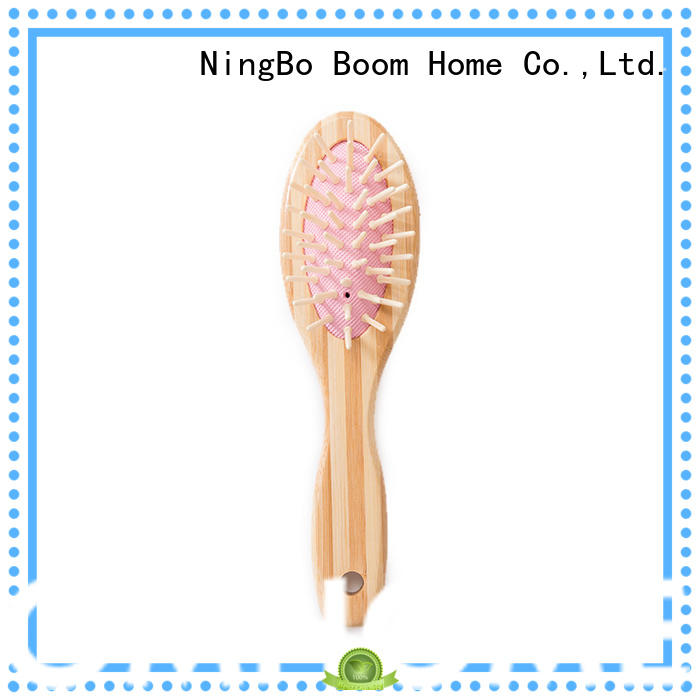 Boom Home smooth bamboo hair brush wholesale for men
