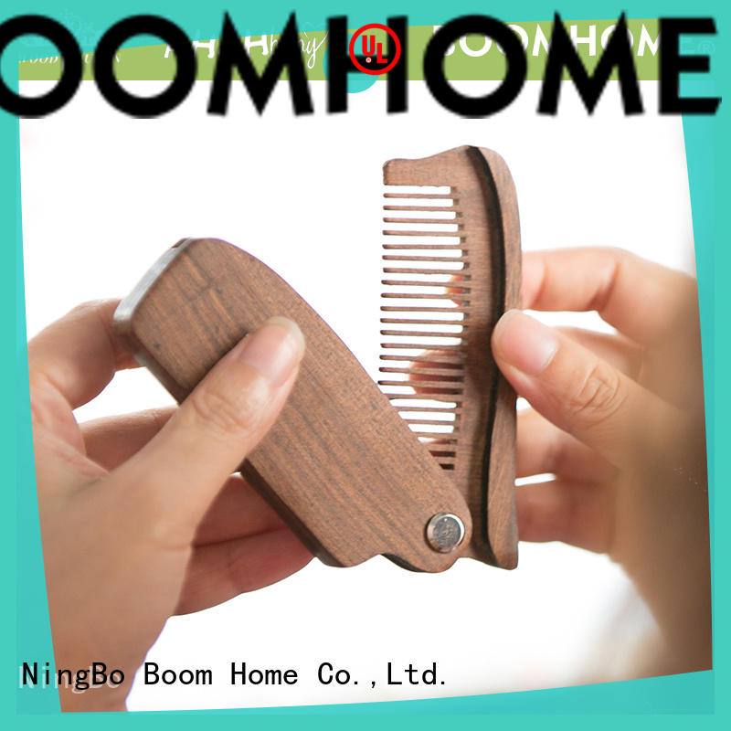 natural wooden hair comb massage with good price for shop