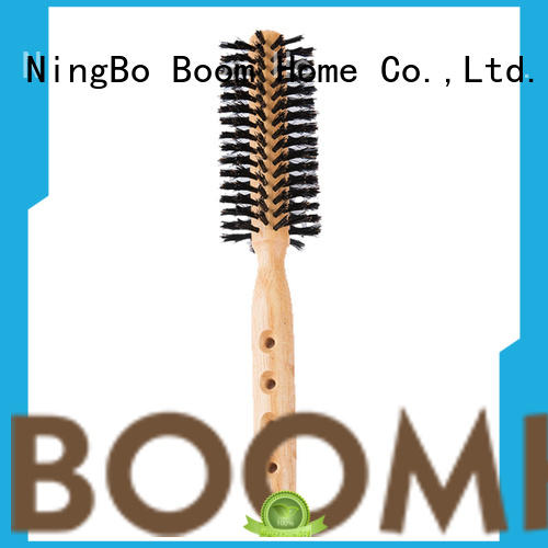 Boom Home bristle wooden round brush wholesale for household