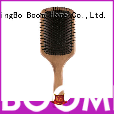 Boom Home air wooden paddle hair brush with good price for shop