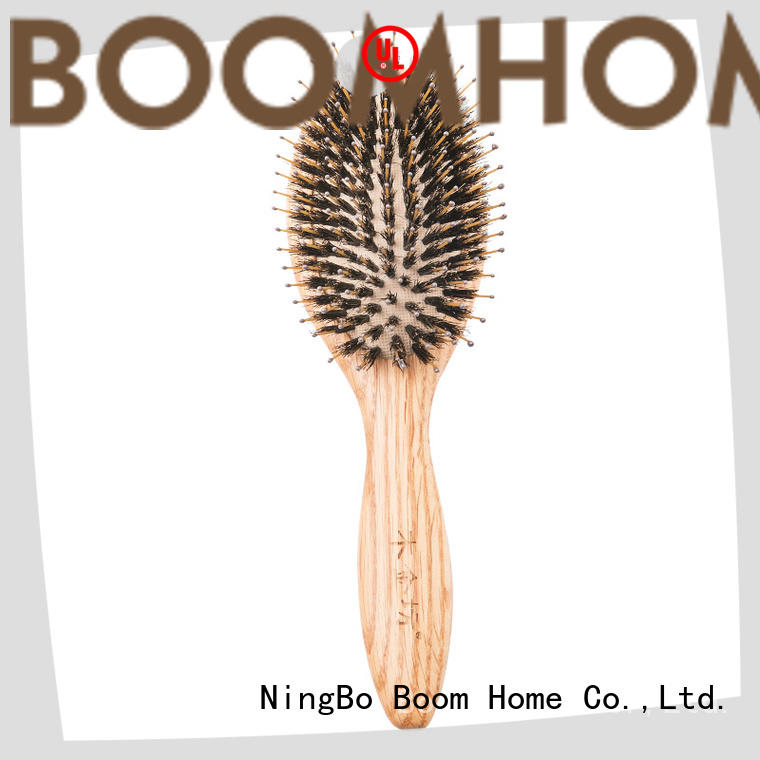 round wooden hair brush comb design for hotel