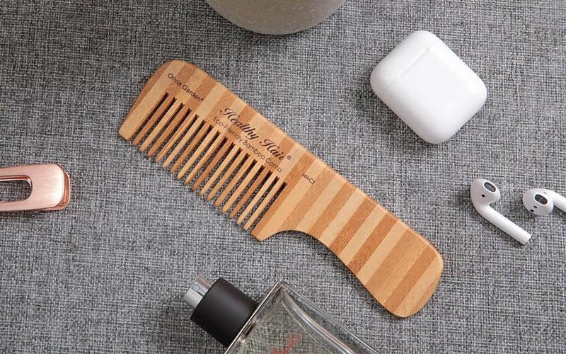 Boom Home eco-friendly bamboo hair comb personalized for women-1