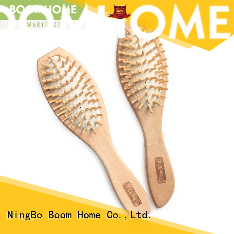 Boom Home quality wooden handle hair brush factory for shop