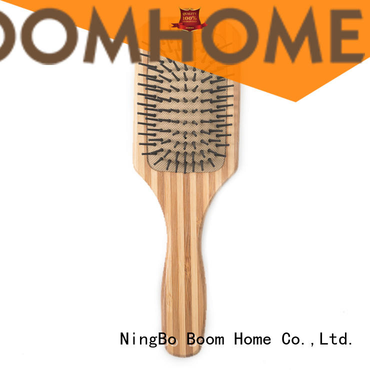 handle bamboo pin brush pink for women Boom Home