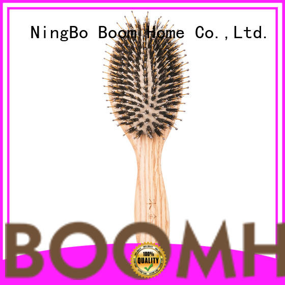 Boom Home shower hair brush with wooden handle supplier for shop