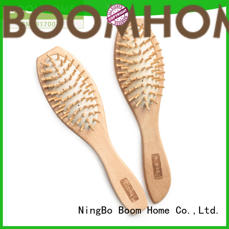 Boom Home label wooden handle hair brush factory for hotel