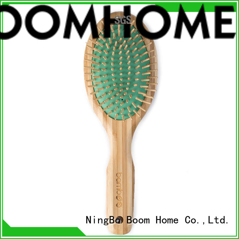 oval bamboo hair comb nylon factory price for men