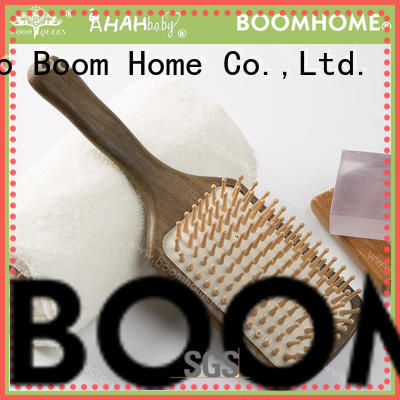 natural mens wooden handle hair brush customized for shop