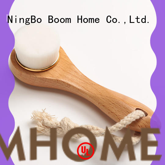 Wooden Natural Bristle Face Brush For Facial Exfoliation