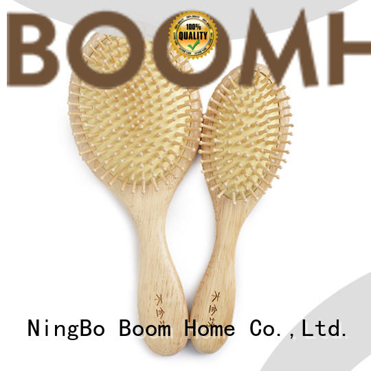 Boom Home natural wooden hair comb with good price for shop