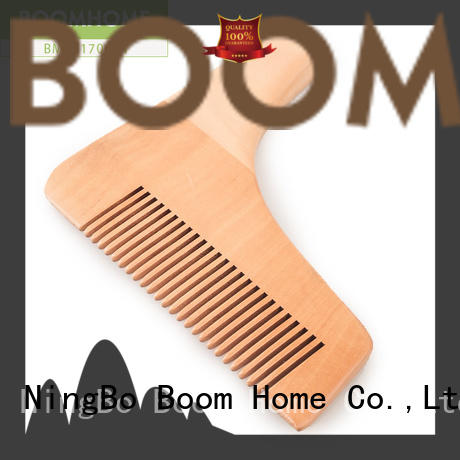 round wooden handle hair brush bristle factory for home