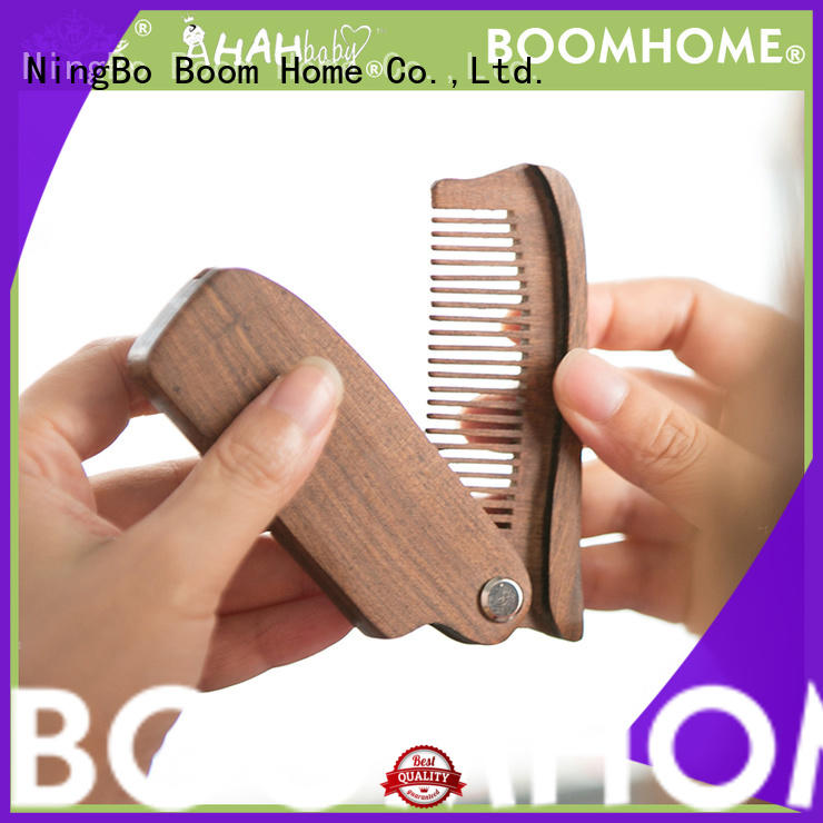 Boom Home natural wooden handle hair brush pin for travel