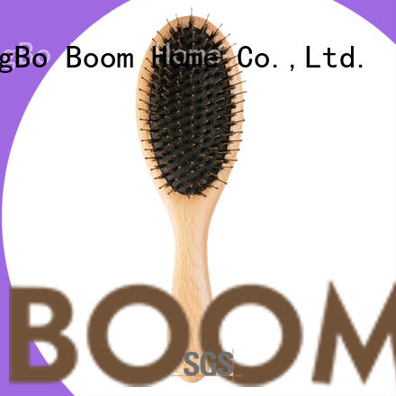 Boom Home wooden boar hair hairbrush inquire now for hair salon