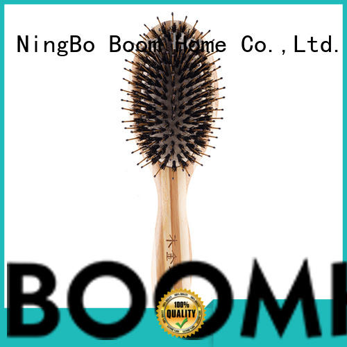 Boom Home best natural bristle paddle hair brush bamboo for men