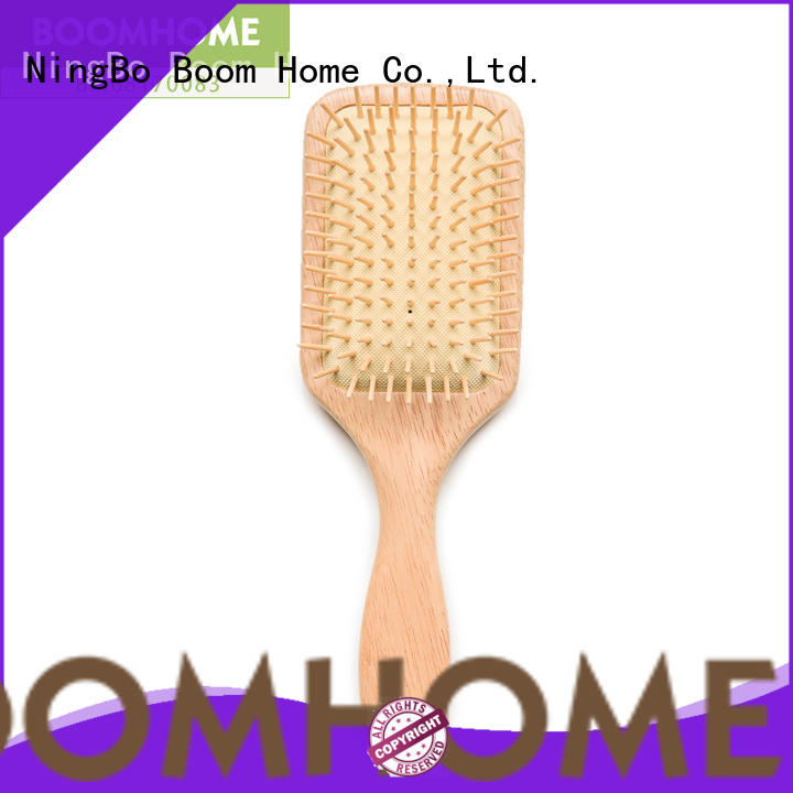 Boom Home noble wooden paddle brush factory for travel
