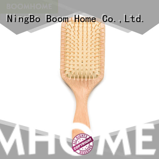 Boom Home straightener wood hair brush with good price for hotel