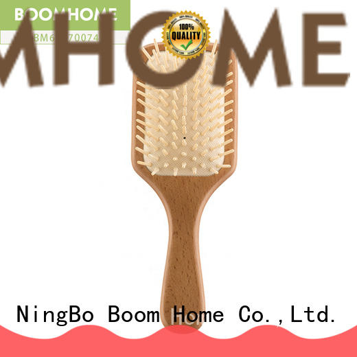 Boom Home anti-static wooden hair comb design for travel