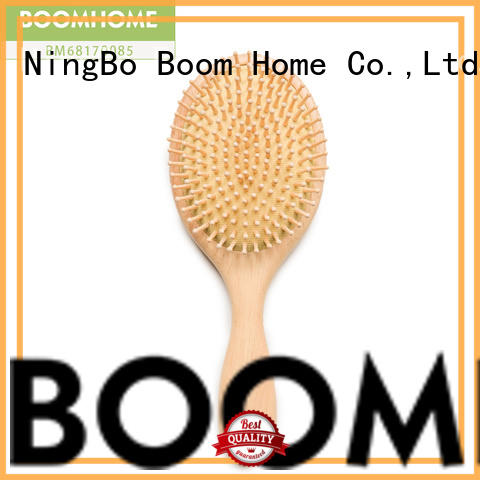 straightener wooden hair brush with natural bristles pins for travel Boom Home