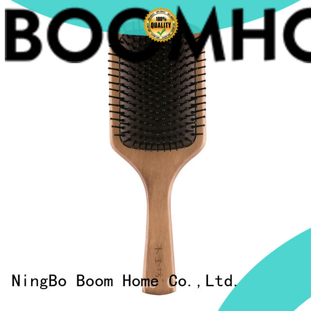 Boom Home round wooden paddle hair brush factory for home