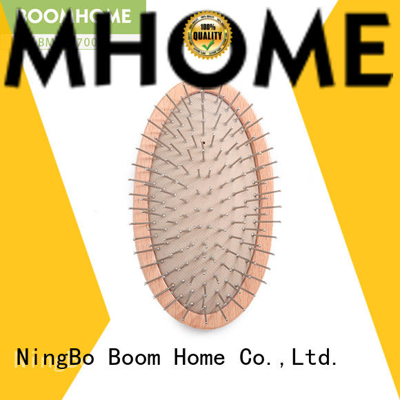 Boom Home eco-friendly wooden paddle hair brush with good price for travel