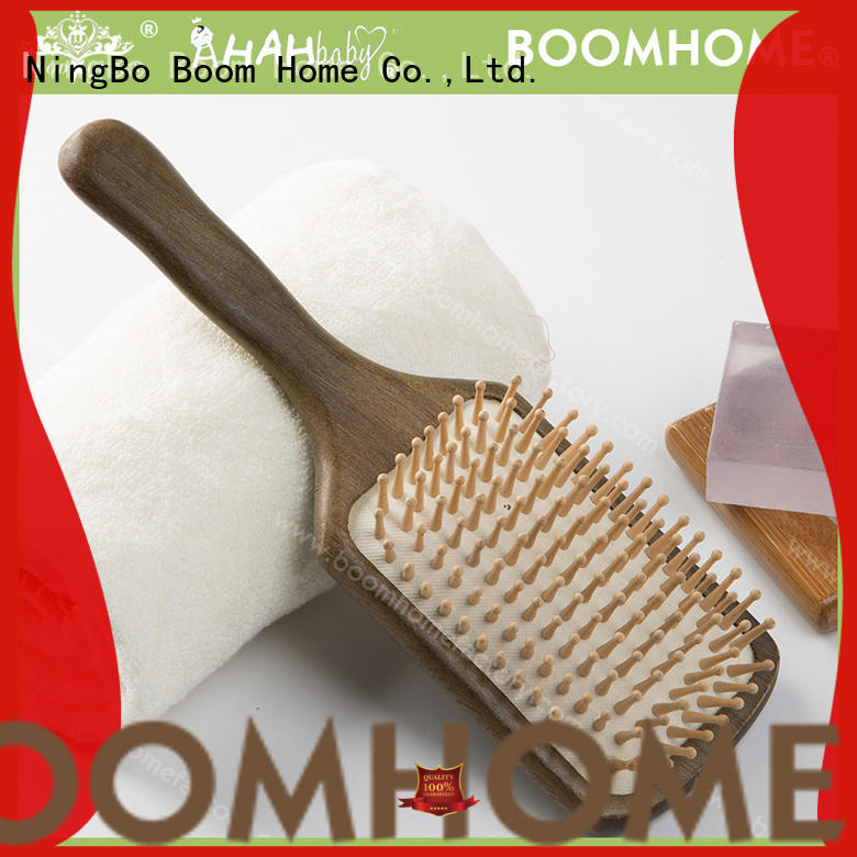 Boom Home anti-static wooden comb design for travel
