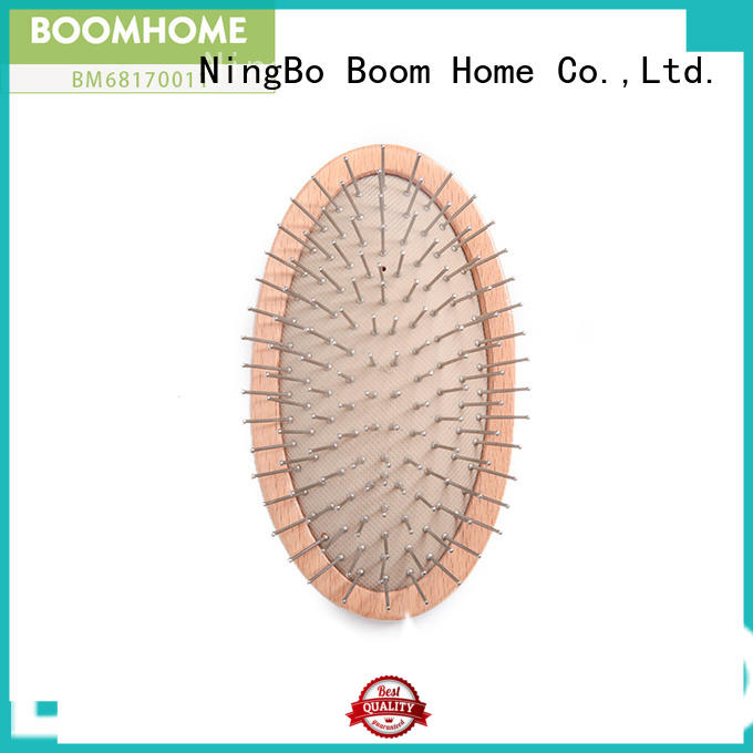 Boom Home grooming wood hair brush supply for travel
