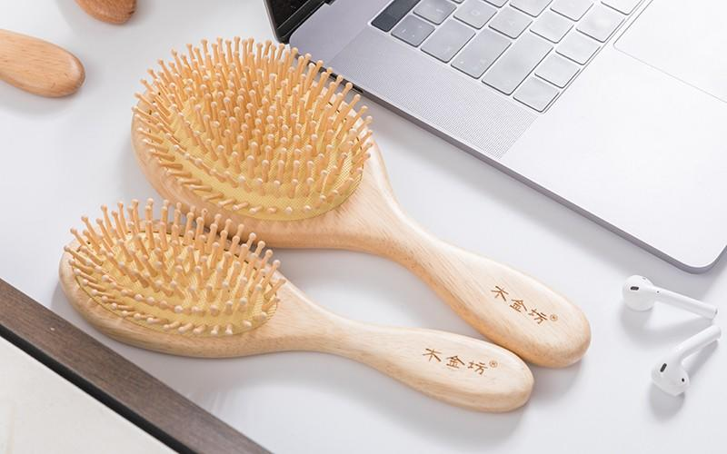 Boom Home anti-static wooden comb with good price for travel-3
