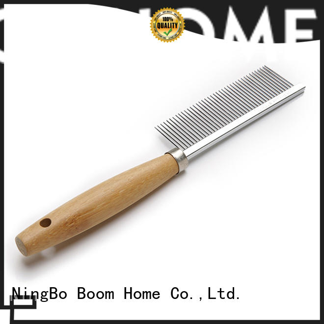 Bamboo Pet Brush For Removing Matted Fur, Knots & Tangles