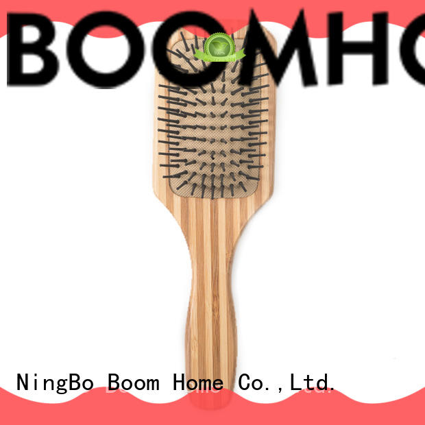 oval bamboo paddle brush round factory price for women