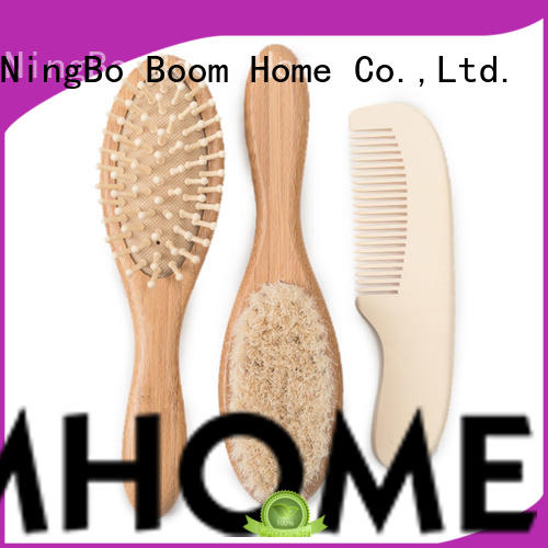 Boom Home goat wooden baby hair brush directly sale for infant