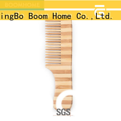 Boom Home natural bamboo comb wholesale for thick hair