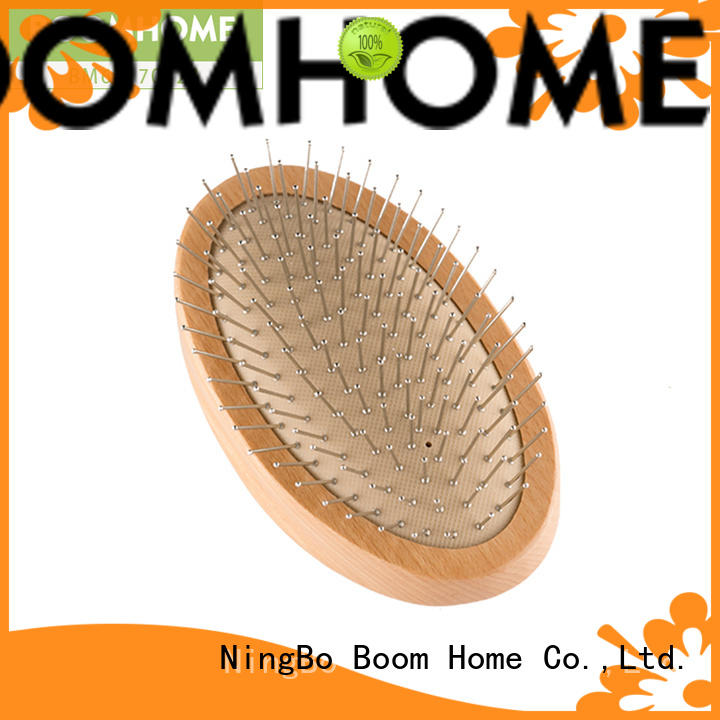 Boom Home growth wood hair brush design for hotel
