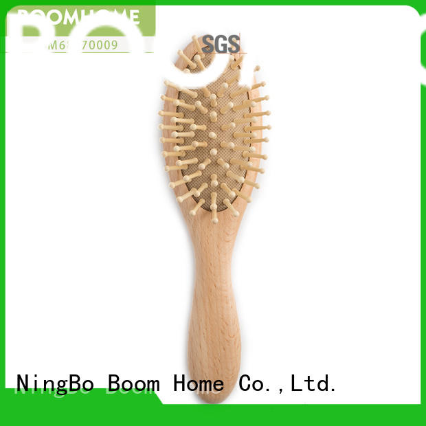 eco-friendly kids hair brush wooden customized for household